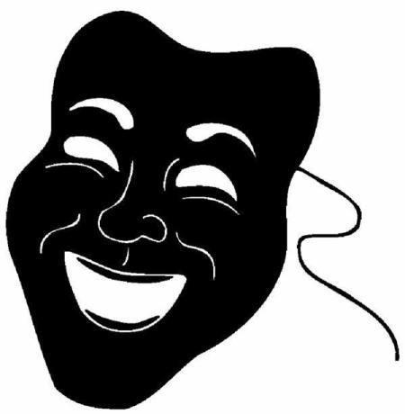 comedy mask-single